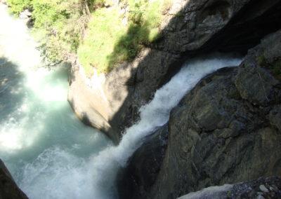 Wasserfall am Ausgang